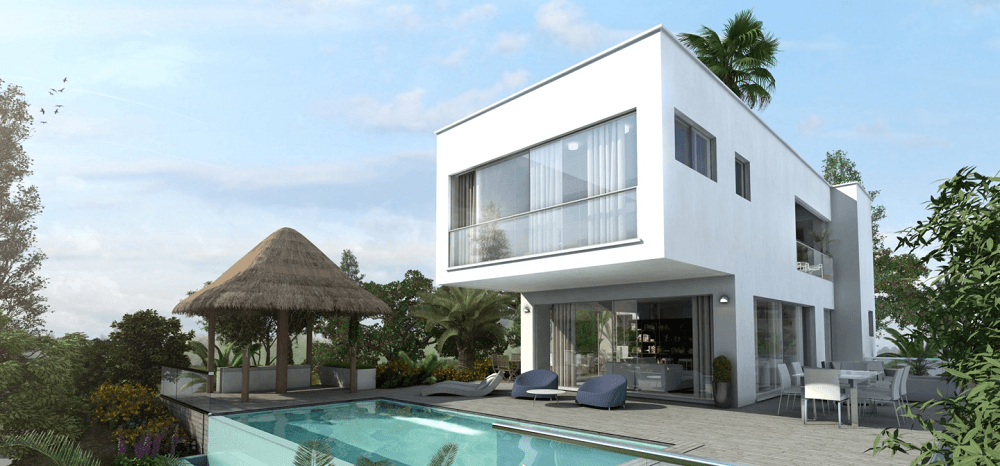 Uncompleted modern villa in La Cala Golf